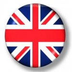 Button with the colours of the United Kingdom